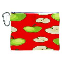 Apple Fruit Pattern Canvas Cosmetic Bag (XXL)