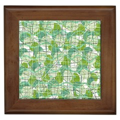 Gray decorative abstraction Framed Tiles