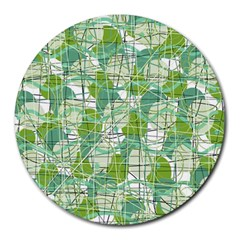 Gray decorative abstraction Round Mousepads