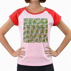 Gray decorative abstraction Women s Cap Sleeve T-Shirt