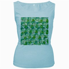Gray decorative abstraction Women s Baby Blue Tank Top