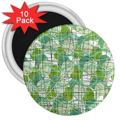 Gray decorative abstraction 3  Magnets (10 pack)