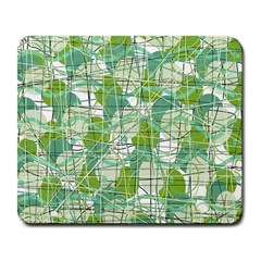 Gray decorative abstraction Large Mousepads