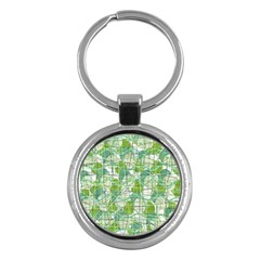Gray decorative abstraction Key Chains (Round)