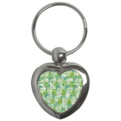 Gray decorative abstraction Key Chains (Heart)