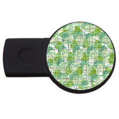 Gray decorative abstraction USB Flash Drive Round (1 GB)