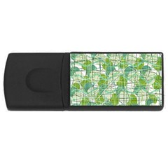 Gray decorative abstraction USB Flash Drive Rectangular (2 GB)