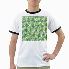 Gray decorative abstraction Ringer T-Shirts