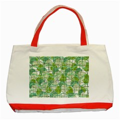 Gray decorative abstraction Classic Tote Bag (Red)