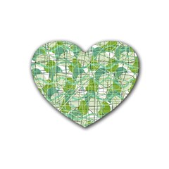 Gray decorative abstraction Heart Coaster (4 pack)