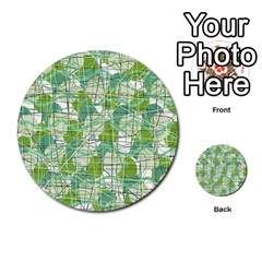 Gray decorative abstraction Multi-purpose Cards (Round)