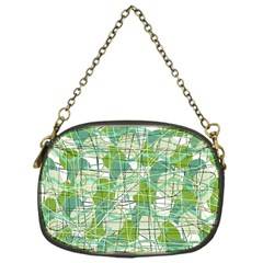 Gray decorative abstraction Chain Purses (One Side)
