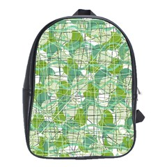 Gray decorative abstraction School Bags(Large)