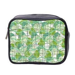 Gray decorative abstraction Mini Toiletries Bag 2-Side