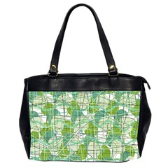 Gray decorative abstraction Office Handbags (2 Sides)