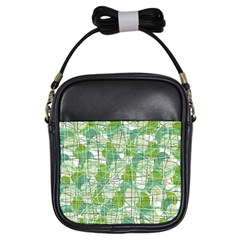 Gray decorative abstraction Girls Sling Bags