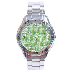 Gray decorative abstraction Stainless Steel Analogue Watch