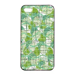 Gray decorative abstraction Apple iPhone 4/4s Seamless Case (Black)