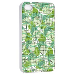Gray decorative abstraction Apple iPhone 4/4s Seamless Case (White)
