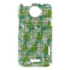 Gray decorative abstraction HTC One X Hardshell Case