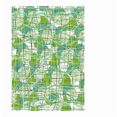 Gray decorative abstraction Small Garden Flag (Two Sides)