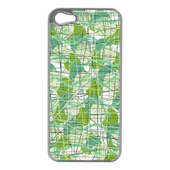 Gray decorative abstraction Apple iPhone 5 Case (Silver)