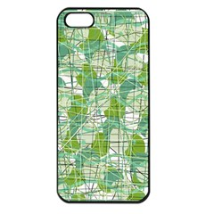 Gray decorative abstraction Apple iPhone 5 Seamless Case (Black)
