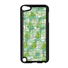 Gray Decorative Abstraction Apple Ipod Touch 5 Case (black)