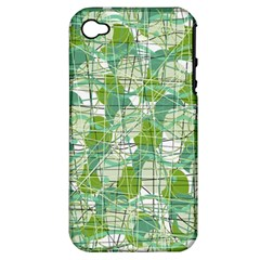 Gray decorative abstraction Apple iPhone 4/4S Hardshell Case (PC+Silicone)