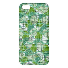 Gray decorative abstraction Apple iPhone 5 Premium Hardshell Case