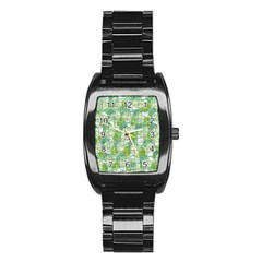 Gray decorative abstraction Stainless Steel Barrel Watch