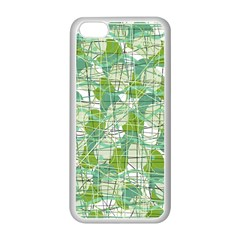 Gray decorative abstraction Apple iPhone 5C Seamless Case (White)