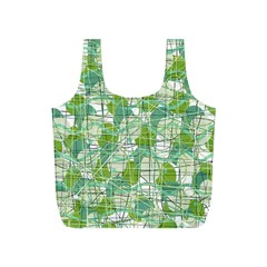 Gray decorative abstraction Full Print Recycle Bags (S)