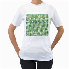 Gray decorative abstraction Women s T-Shirt (White)