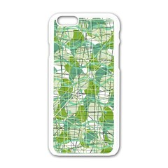 Gray decorative abstraction Apple iPhone 6/6S White Enamel Case