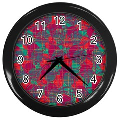 Decorative abstract art Wall Clocks (Black)
