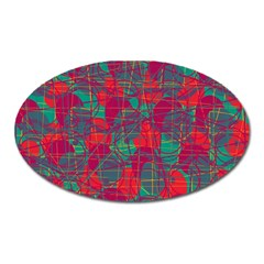 Decorative abstract art Oval Magnet