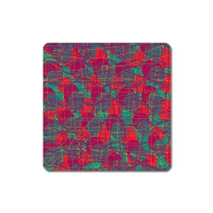 Decorative abstract art Square Magnet