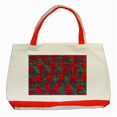 Decorative abstract art Classic Tote Bag (Red)