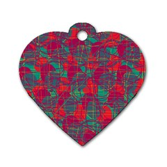 Decorative abstract art Dog Tag Heart (Two Sides)