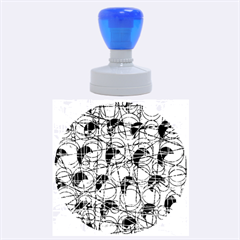 Decorative Abstract Art Rubber Round Stamps (large)