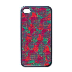 Decorative abstract art Apple iPhone 4 Case (Black)