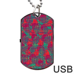 Decorative abstract art Dog Tag USB Flash (One Side)