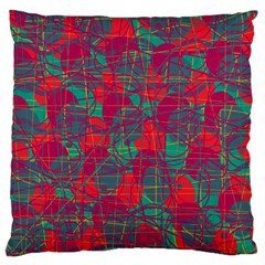 Decorative abstract art Large Cushion Case (One Side)