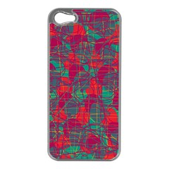 Decorative abstract art Apple iPhone 5 Case (Silver)
