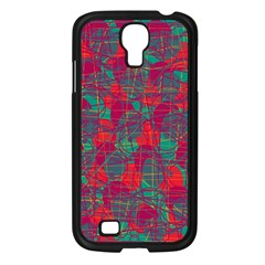 Decorative abstract art Samsung Galaxy S4 I9500/ I9505 Case (Black)