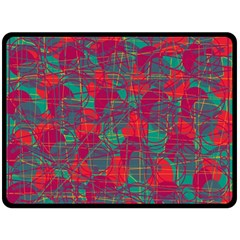 Decorative abstract art Double Sided Fleece Blanket (Large)