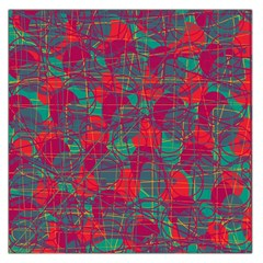 Decorative abstract art Large Satin Scarf (Square)