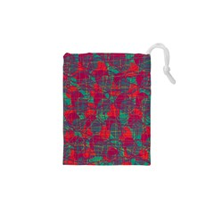 Decorative abstract art Drawstring Pouches (XS)