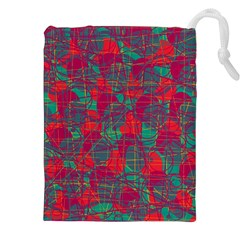 Decorative abstract art Drawstring Pouches (XXL)